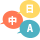 選べる言語(日本語、英語、中国語)